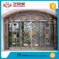 color customized 2016 latest window grill design/hebei manufacturer 2016 latest iron window grill design