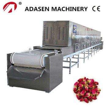 Industrial water cooling microwave de-enzyming machine for rose
