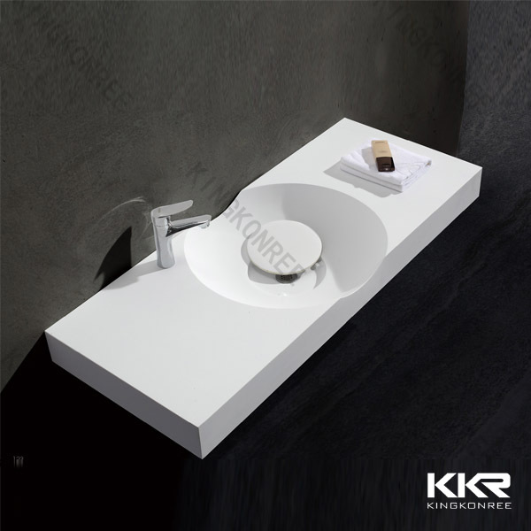 Customized acrylic solid surface molded sink countertop for Solid surface kitchen sink