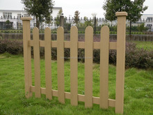 Outdoor picket fencing Wood color CE FSC certified WPC factory Railing fence