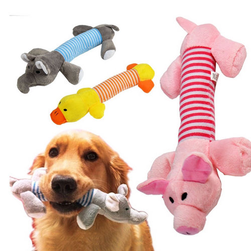 Eco friendly pet toys China pet supplies Cut Stripe animal shape plush toys pleasant pet toys