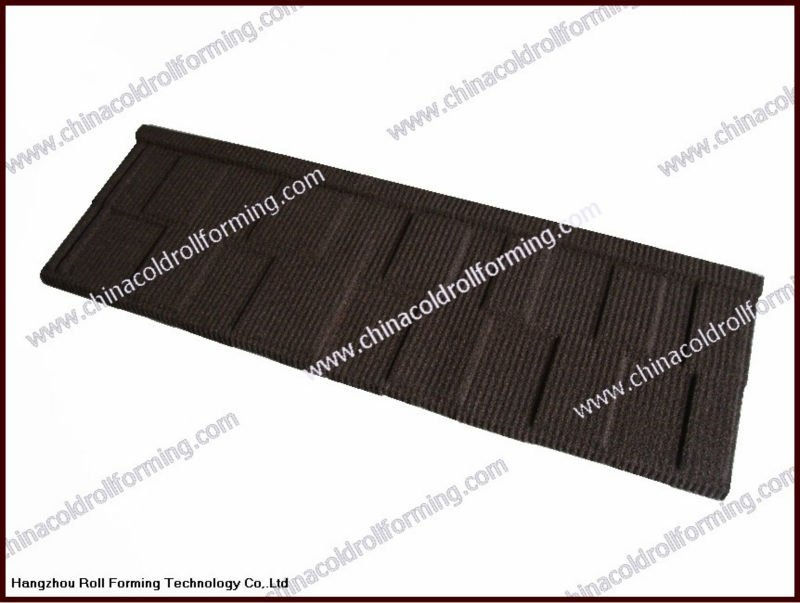 Colorful Stone Coated Metal Roof Step Tile/natural stone chip coated metal roof tiles