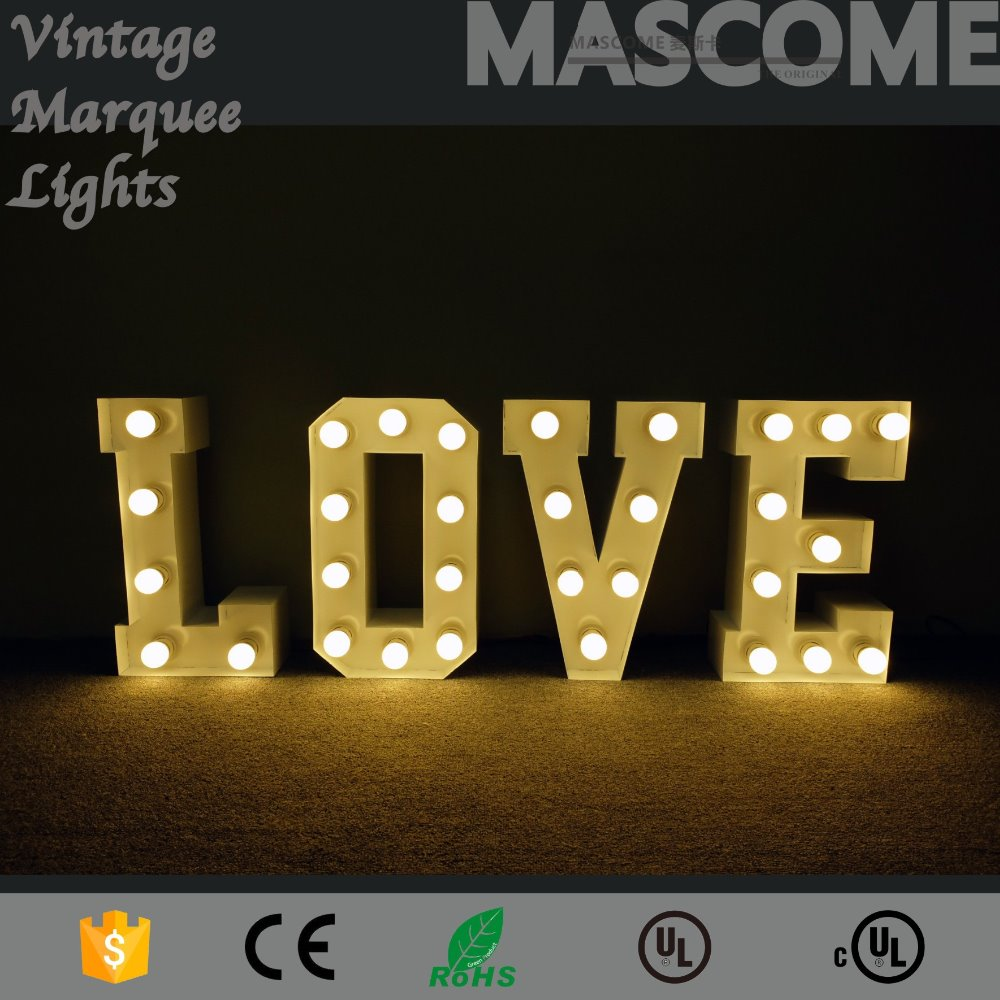 "60"" height LOVE DC LED LETTER <strong>SIGN</strong>,LED bulb,different size,wholesale viable"
