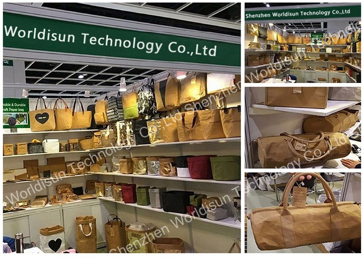Custom Washable Kraft Paper bags, Minimalist Hipster Bag,High Quality Eco-friendly Innovative Paper Bag wholesale