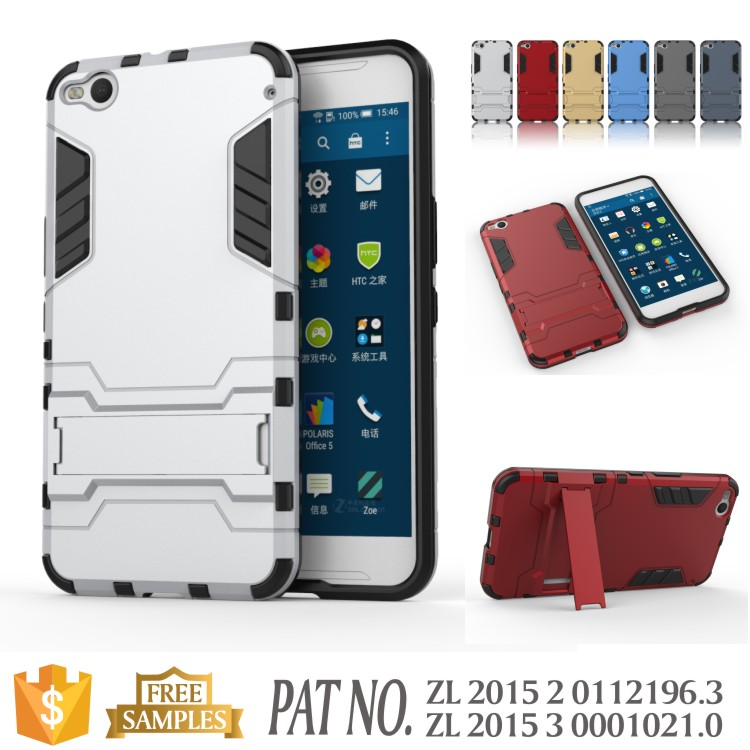 Iron bear TPU+PC kickstand mobile phone case for htc x9 cover