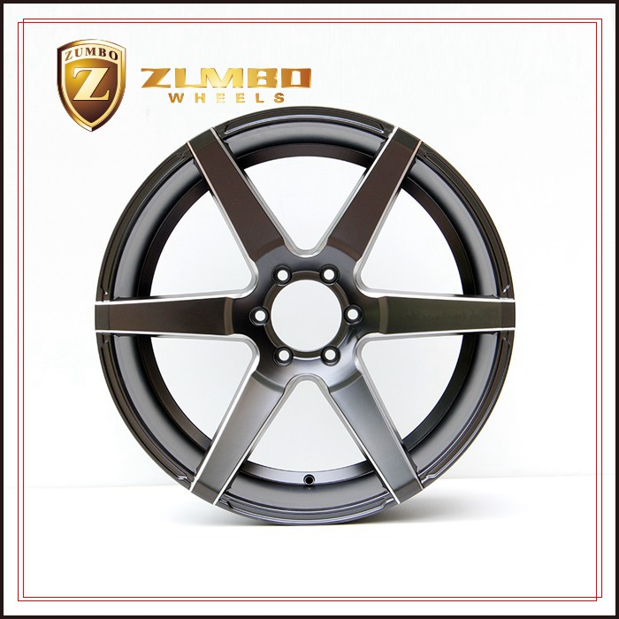 ZUMBO S0005 Semi Matt Black+Mill Spoke Car Aluminum Alloy Wheel Rims