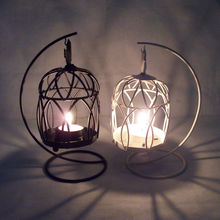 decoration in Christmas wrought iron floor standing candle holder