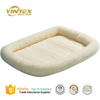 Best Selling Lovely Luxury plush sponge square shaped pet bed dog bed