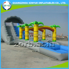Summer most popular giant inflatable tropical water slide, inflatable water slide with pool