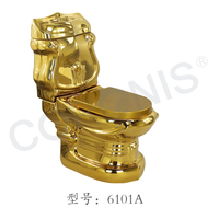 Chaozhou hot sale luxury ceramic gold toilet and basin bathroom set for middle east