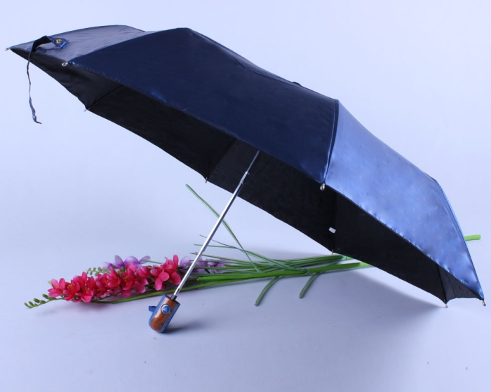 Vinyl PU Automatic Triple Folding 8K Clear Umbrella