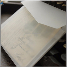 Wholesales Custom Made Document Enclosed Transparent Gift Envelope