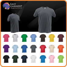 100% Spun Cotton Logo Round Neck Short Sleeves men Custom T-shirt