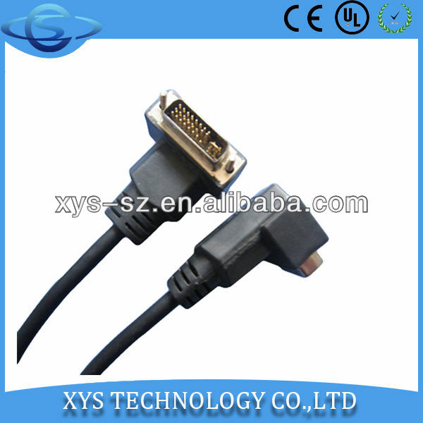 2013 hot sales!!! High Quality DVI Right Angle cable for DVD Players