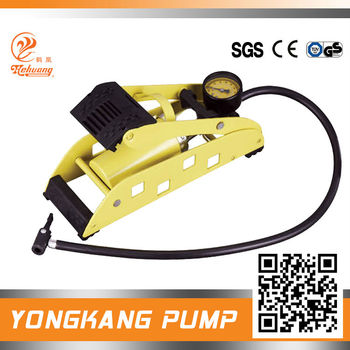High pressure and elaborate design foot air pump for tires
