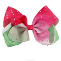 2017 New Color Boutique Baby Crystal Covered Hair Bows With Clips BH1432-X