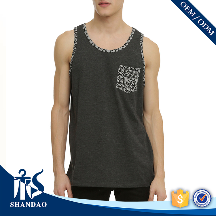 Guangzhou Shandao OEM Manufacturer Casual Summer 100% Polyster O Neck Sleeveless Men Athletic Tank Top
