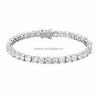 new arrival 925 sterling silver round diamond tennis bracelet