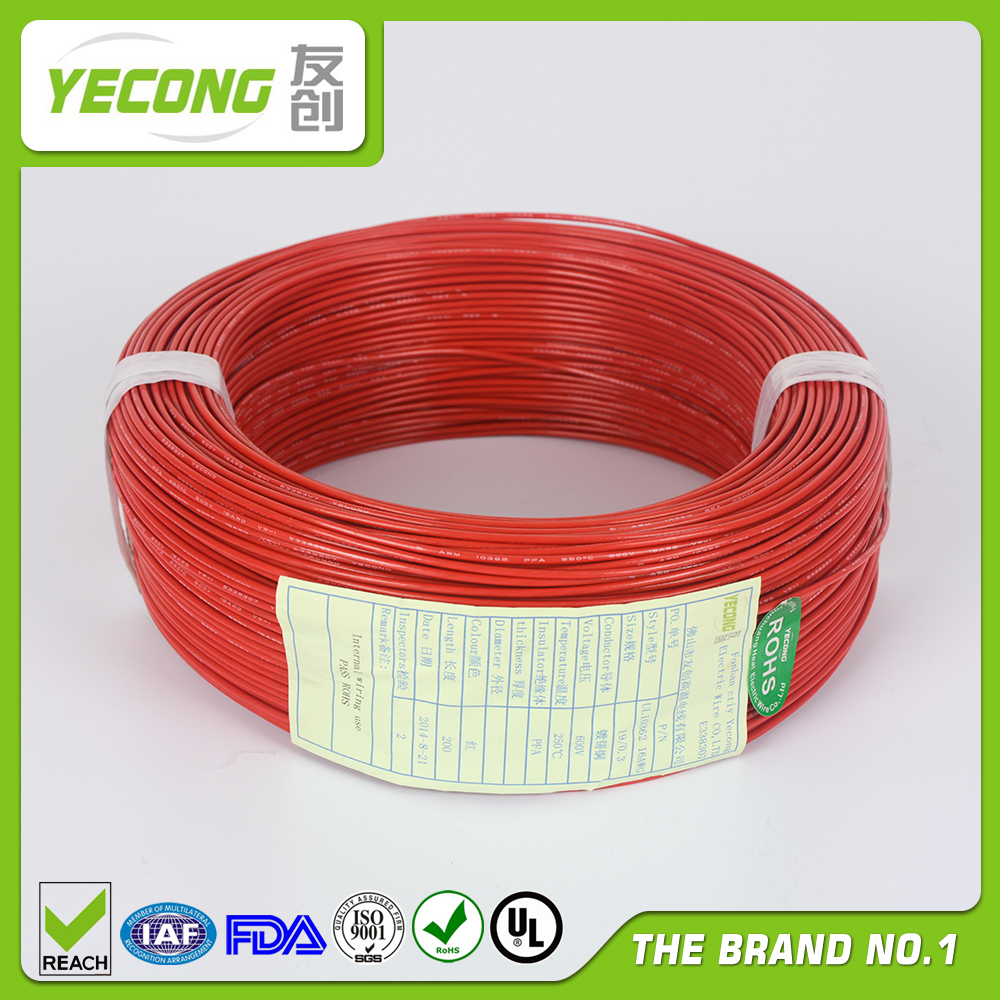 silver plated copper PTFE insulated wire