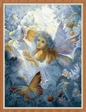 canvas art angel picture coloring by numbers for home decor GX7835