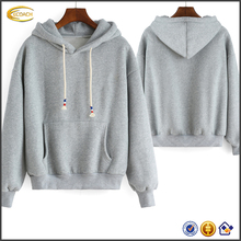 Ecoach fall season high quality fashion casual Embroidery Loose Grey hooded tech fleece wholesale women hoodies