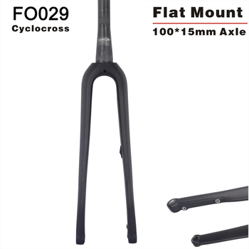 new design CX carbon fork Cyclocross flat mount disc brake carbon bicycle fork 160mm Disc fork