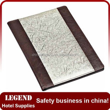 China wholesale leather menu cover,menu folder