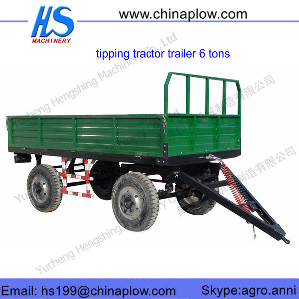 Strong construct tractor used tipping trailer / Four wheel farm trailer