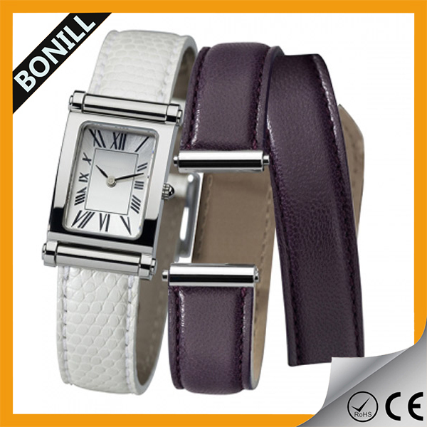 2016 new product Vintage diamond leather quartz Bracelet Watch wrist women watches