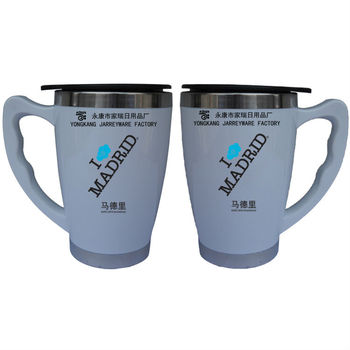 High Quality Double Wall plastic White Colour Cup