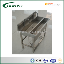 stainless steel hand washing trough