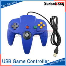 Wired USB Gamepad for PC Joystick USB N64 Controller for Laptop Blue