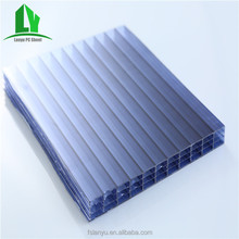 Polycarbonate hollow sheet 16mm four wall Greenhouse sheet anti-fog roof panels