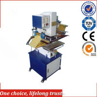 TJ-9 New pneumatic plastic storage chairs, plastic jewelry tag foil hot stamping machine