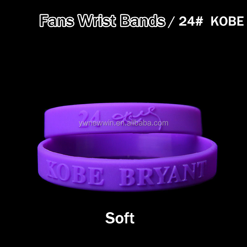 Randomly Send Women Men Basketball Super Star Sign Rubber Wristband James Kobe Curry Silicone Bracelet