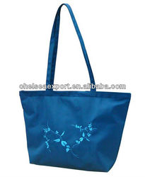 Reach and EU standard customized trendy microfiber tote bag