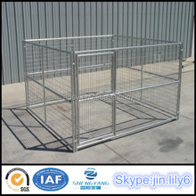 Hot sell outdoor pen Exercise welded mesh dog fence with shade cover