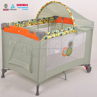 portable baby crib playyard with safety wheel