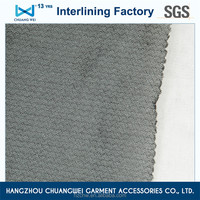 China 100% knitted polyester tearable woven fusible interlining With SGS