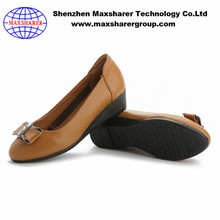 Good quality elegant office ladies dress shoes flat leather dress shoes women