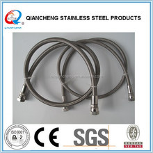 "factory stainless steel braided fuel hose PTFE teflon hose 1/4"" BSP fittings"