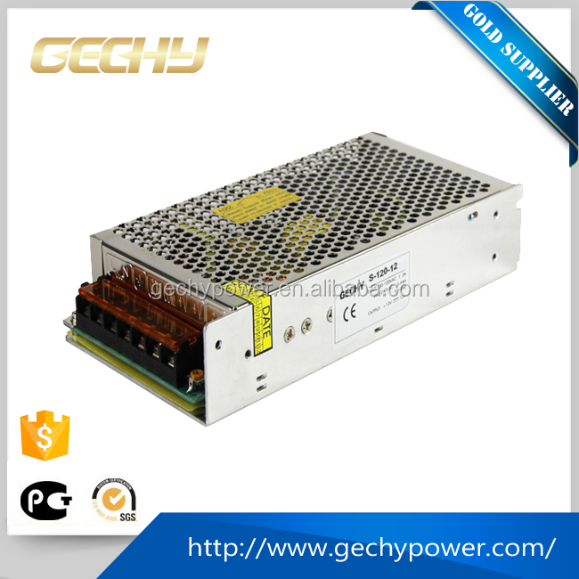S-120W 5v,12v,24v AC/DC compact single output enclosed 12v led switching power supply