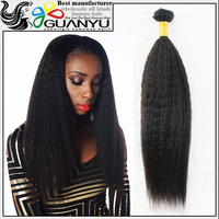 Wholesale 6A grade kinky straight human hair extension,100% virgin brazilian hair weave accept paypal from china supplier