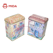 Creative products cartoon house shape candy gift tin box