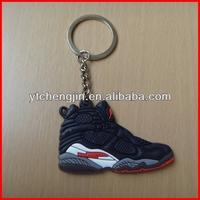 Blk White AJ8 jordan sneaker keychain for nike