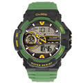 50 metre water resistant Multi Function Men Military Dual Time Digital Analog Chronograph Watch