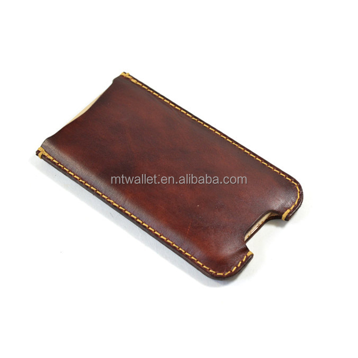 Vegetable Tanned Leather Simple Phone Protective Sleeve Cell Phone Case