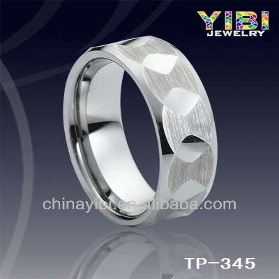 wholesale body jewelry, tungsten ring,gold mounting