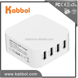 Popular 40w 8a 5V 4-port USB charger charging station for X / 8 / 7 / Plus / 6s, Galaxy S Series, Note, Nexus, HTC, and More