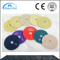 4 Inch Marble Granite Dry Polishing